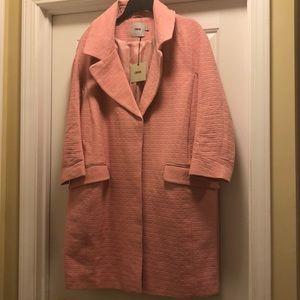 ASOS US Size 14 Pink Overcoat